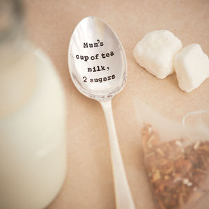 Personalised Silver Plated Vintage Tea Spoon - dining room