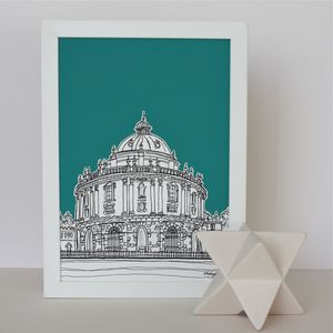 Radcliffe Library Art Print - maps & locations