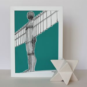 Angel Of The North Print - maps & locations