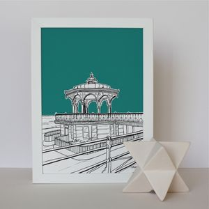 Brighton Bandstand Art Print - maps & locations