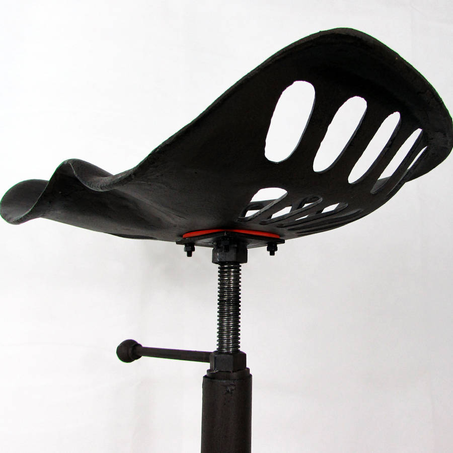Tractor Seat Light : Traditional tractor seat metal bar stool by unique s co