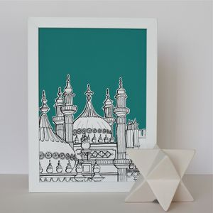Brighton Pavilion Domes Art Print - shop by subject