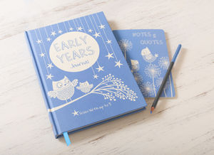 Early Years Plus Notes And Quotes Blue Owls - baby shower gifts