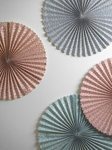Floral Paper Fans - occasional supplies