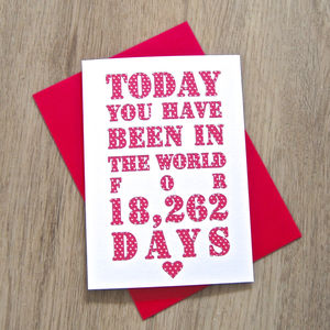 Personalised Days Birthday Card - shop by category
