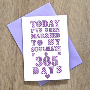 Personalised Soulmate Days Card - anniversary gifts