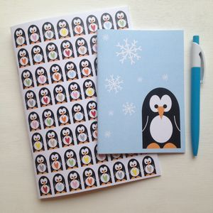 Penguin Pattern Notebook Set - for children