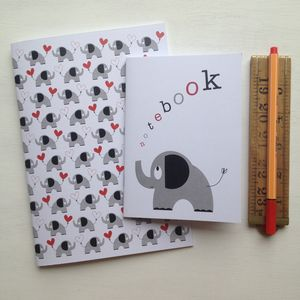 Elephant And Heart Notebook Set - wedding day activities