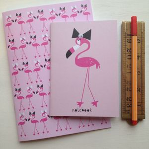 Flamingo Notebook Set - wedding day activities