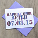 Personalised 'Happily Ever After' Card