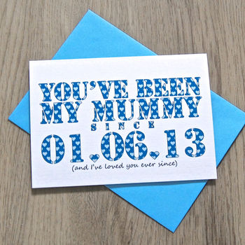 Personalised 'You've Been Mine Since…' Card