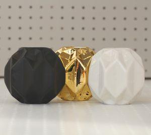 Origami Matte Black Porcelain Vase