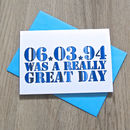 Personalised '…Was a Really Great Day' Card