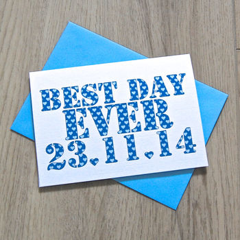 Personalised 'Best Day Ever' Card