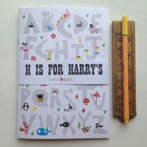 Children's Personalised Alphabet Notebook - wedding day activities