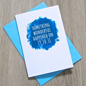 Personalised Watercolour 'Something Wonderful…' Card - anniversary cards