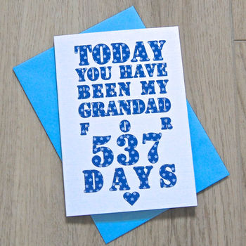 Personalised Grandparent Days Card