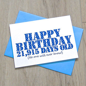 Personalised Secret Birthday Days Card