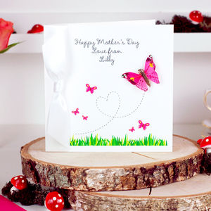 Personalised Butterfly Mothers Day Card - mother's day cards