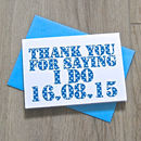 Personalised Thank You For Saying 'I Do' Card