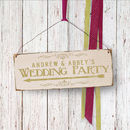 Wedding Sign Gold