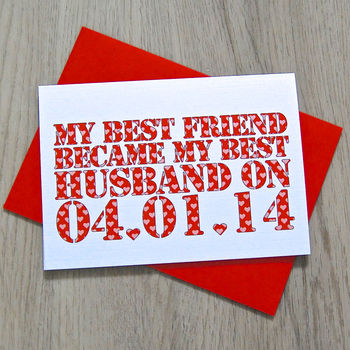 Personalised 'Best Friend Became…' Card
