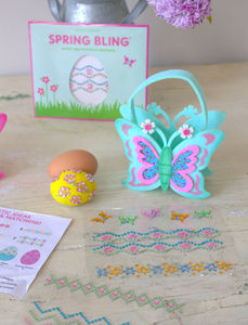 Easter Butterfly Bag And Sticker Set