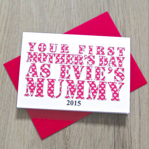 Personalised First Mother's Day As Mummy Card