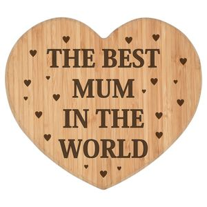 Best Mum In The World Heart Chopping Board - kitchen