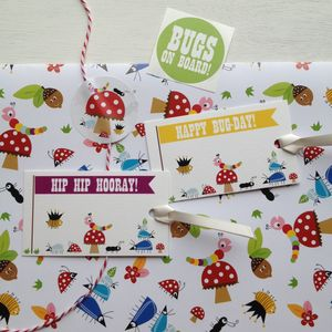 Bug Pattern Wrapping Paper And Gift Wrap Set - wrapping paper