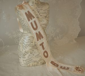 Baby Shower 'Mum To Be' Fabric Sash - baby shower gifts & ideas