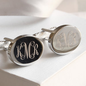 Personalised Monogram Cufflinks - gifts for grandfathers