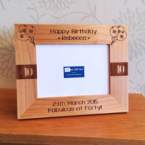 Personalised Birthday Photo Frame - picture frames