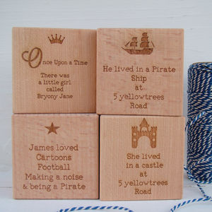 'Once Upon A Time' Christening Or Birthday Cube - keepsakes