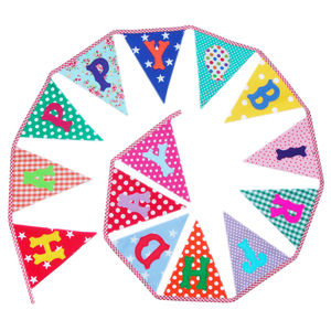 'Happy Birthday' Bunting - decorative accessories