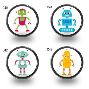 Children's Robot Furniture Door Knobs