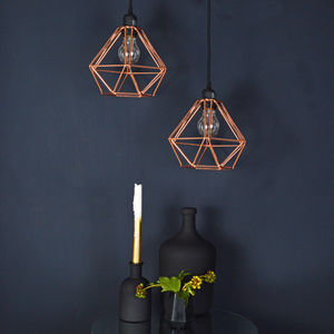 Copper Wire Pendant Light