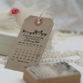 Calendar Bunting Save The Date Stamp - weddings