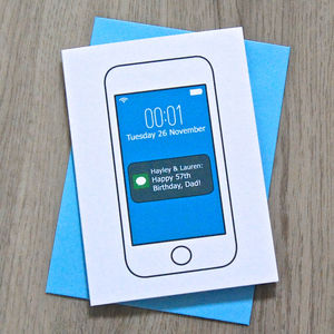 Personalised Smart Phone Card - mother's day cards
