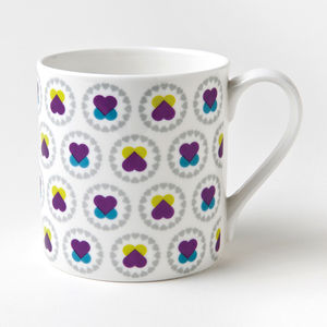 Hearts And Flowers China Mug - mugs