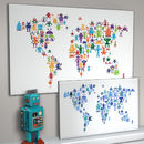 Robot World Map Print