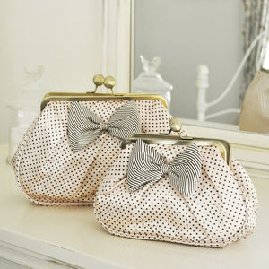Dotty Bow Cosmetic Bags