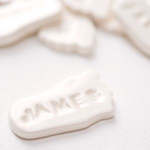 Personalised Ceramic Baby Foot Keepsake