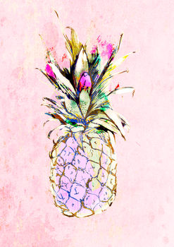 The Pale Pink Pineapple Limited Edition Signed Print