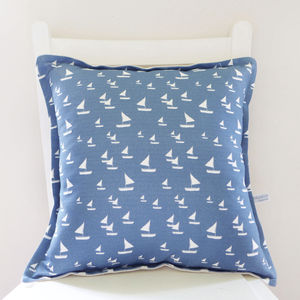 Sailboats Linen Cushion