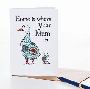 'Home is Where Your Mum is' Card