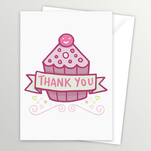 Cupcake Thank You Post Cards - thank you cards