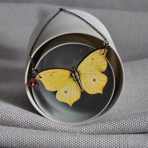 Swallowtail Wooden Butterfly Necklace