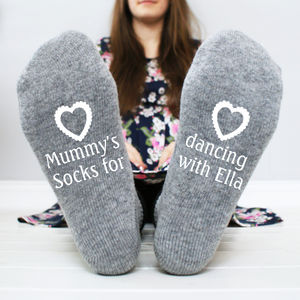 Personalised 'Dancing With You' Women's Socks - accessories gifts for mothers