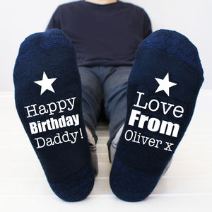Personalised Men's Birthday Socks - for him